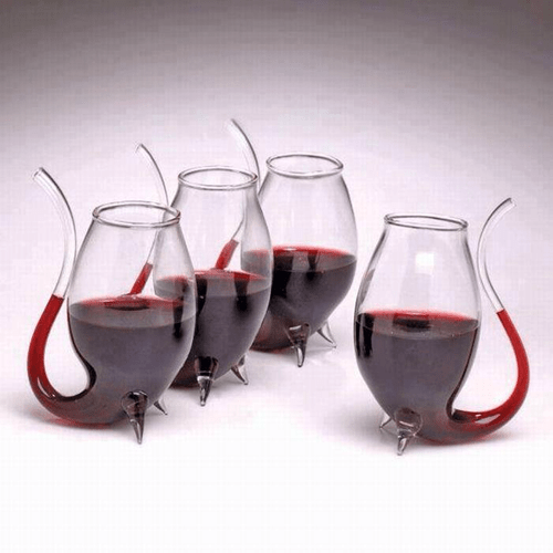glass funny pipe wine - 8198273024