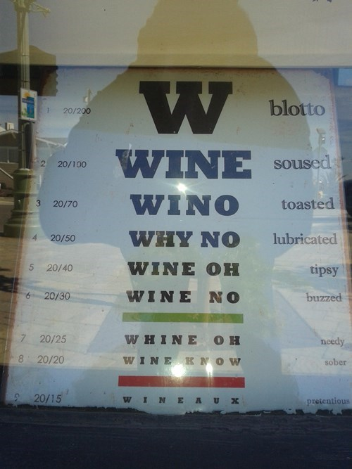 eye chart funny wine - 8198284544