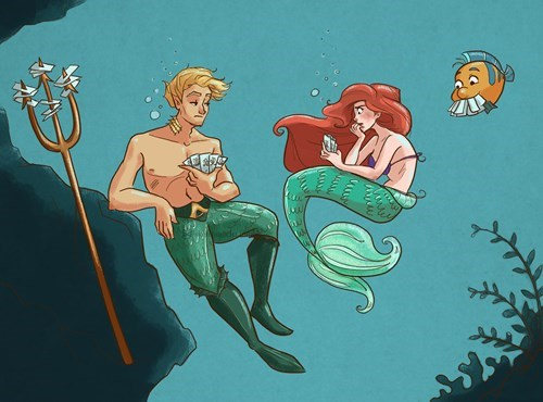 aquaman Fan Art The Little Mermaid - 8198302720