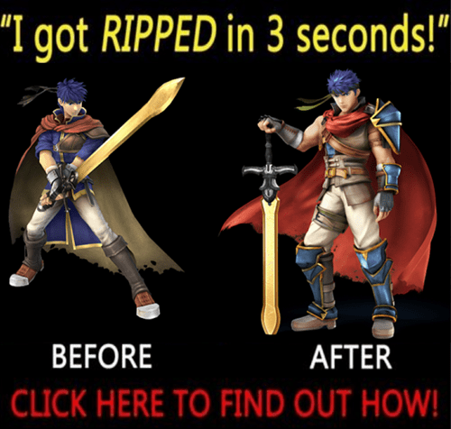 Before And After ike super smash bros - 8198325760