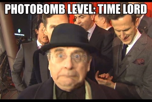 photobomb sylvester mccoy classic who 7th doctor - 8198407168