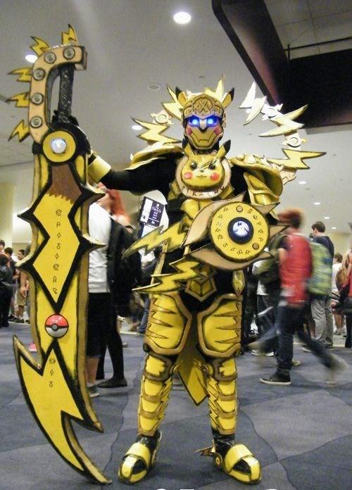 armor,cosplay,pikachu