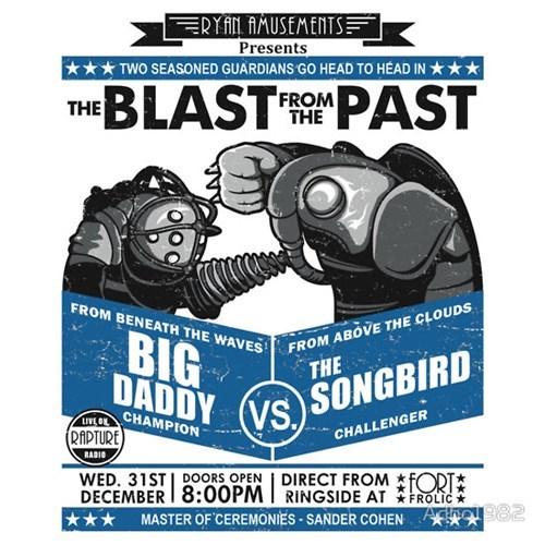 bioshock big daddy tshirts songbird - 8198448384