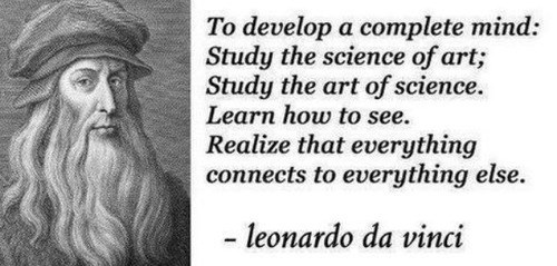 art quote funny science leonardo da vinci - 8198450432