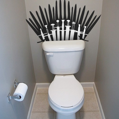 bathrooms iron throne Game of Thrones toilets - 8198510592