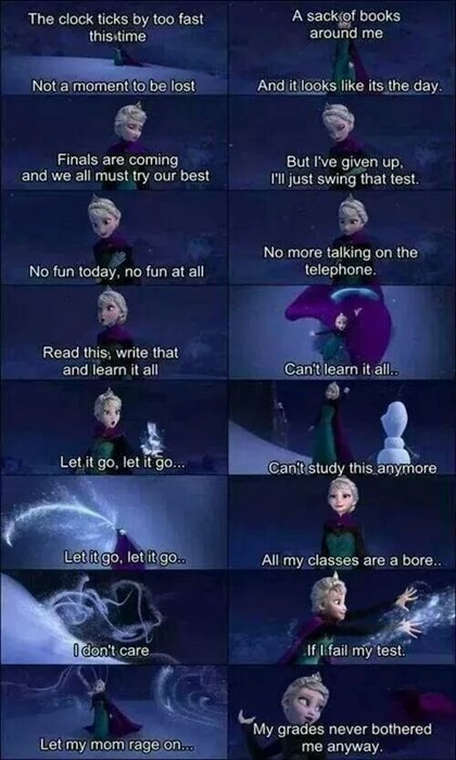 finals,frozen,funny,song