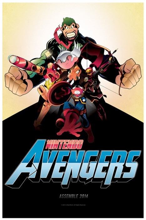 nintendo Fan Art The Avengers - 8198656768