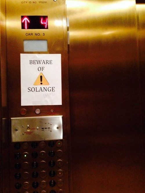 elevator funny signs solange knowles - 8198691584
