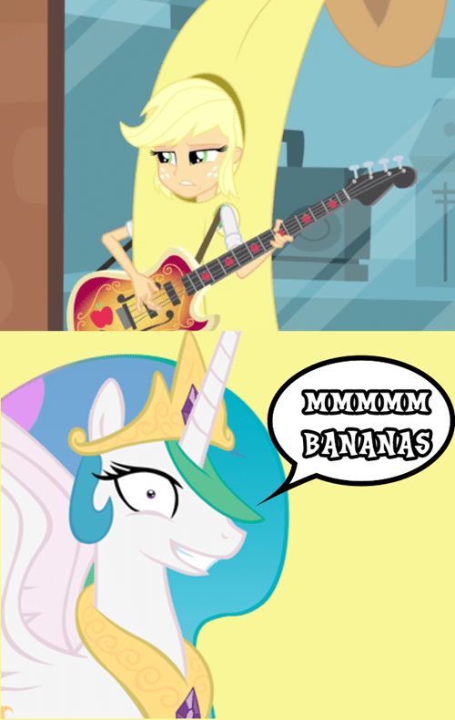 banana applejack princess celestia rainbow rocks - 8198909952