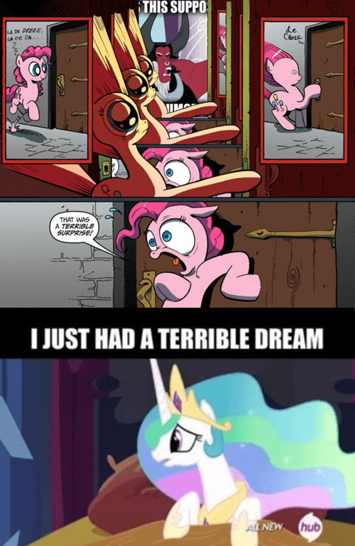 terrible dream,terrible surprise,tirek,pinkie pie