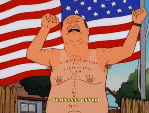 billdozer,flags,King of the hill