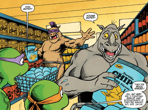 naked bebop and rocksteady TMNT