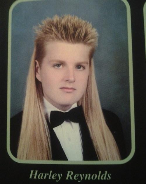 hair poorly dressed yearbook funny - 8199780352