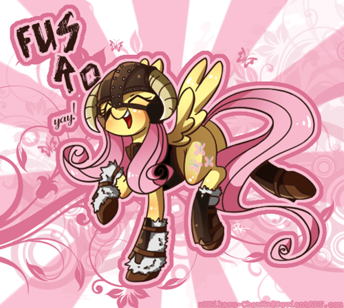 Fan Art yay fluttersht Skyrim - 8199898880