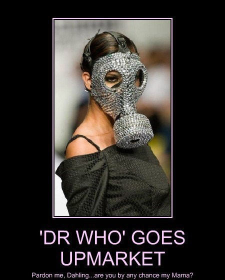 mama gas mask doctor who funny - 8200174848