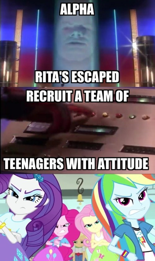 power rangers,teens,equestria girls