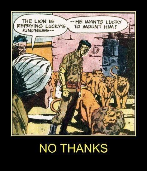 wtf comics lion funny weird - 8201261568