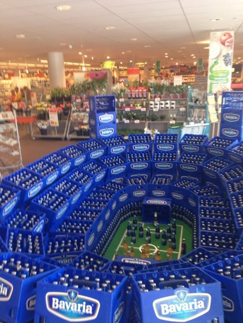 display monday thru friday beer soccer grocery store g rated - 8201425664