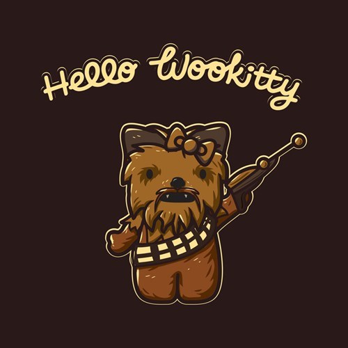 tshirts wookie hello kitty - 8201452544