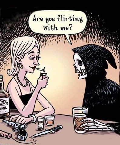 wtf flirting Death funny - 8201847808