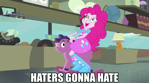 haters,pinkie pie,rainbow rocks