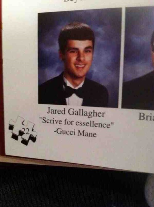 yearbook quote funny - 8201921536