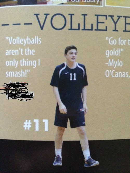 yearbook volleyball quote funny - 8201926400