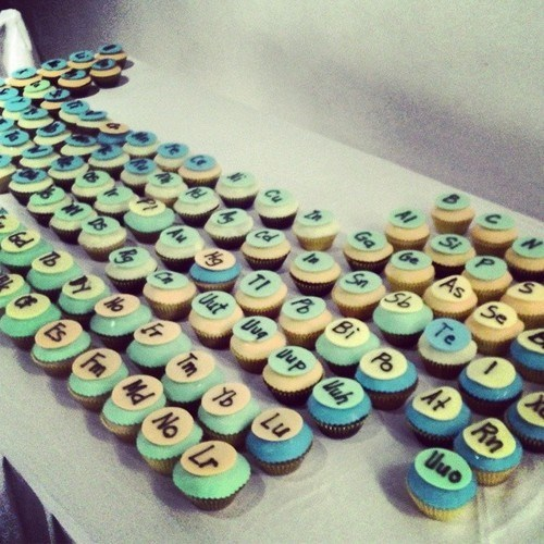 wtf periodic table cupcakes science funny - 8201932032