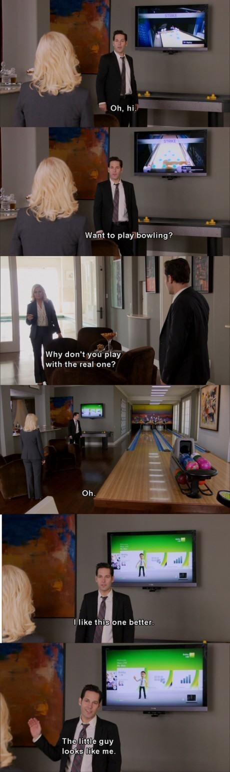 parks and recreation,bowling,video games,funny