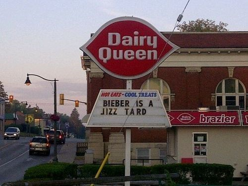 dairy queen,justin bieber