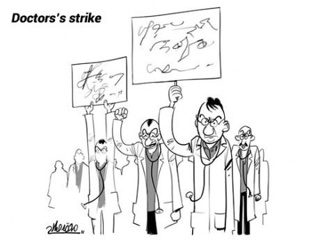 strike Protest doctors web comics