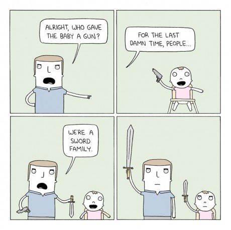 guns families swords parenting web comics - 8202373632
