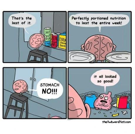 brains stomachs organs food web comics - 8202379520