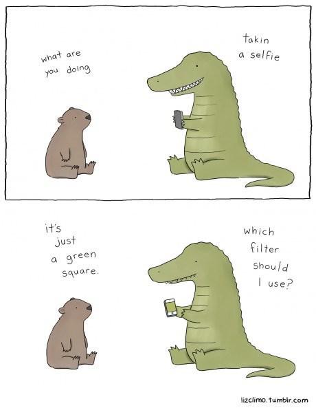 selfie critters web comics - 8202391552
