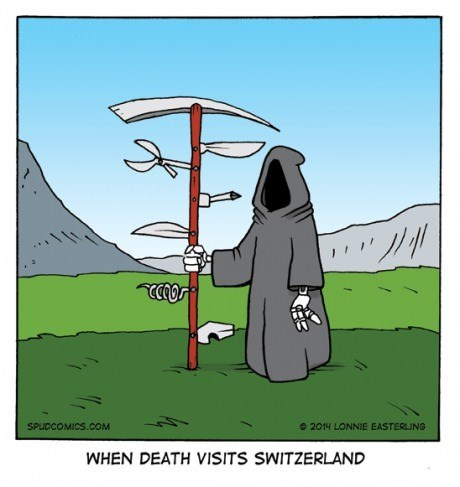 Switzerland swiss army knife Death web comics - 8202392064
