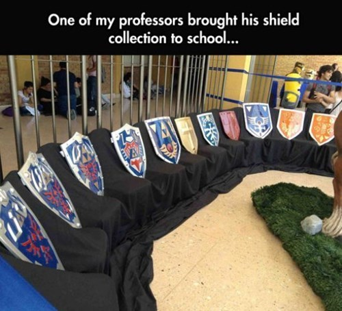 school,legend of zelda,Professors,hylian shield