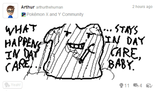 Miiverse,day care,ditto