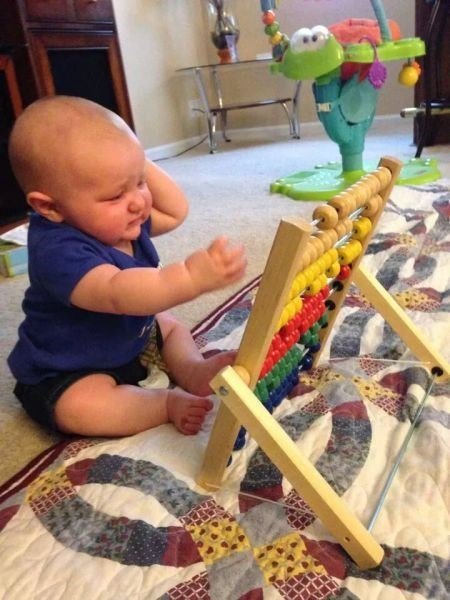 baby expression parenting math - 8202547456