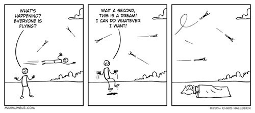 dreams web comics flying