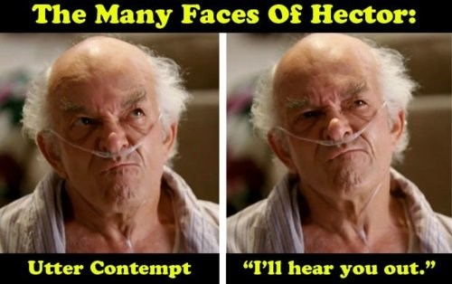 breaking bad Hector funny faces