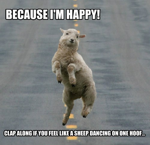 dancing,happy,parody,sheep,pharrell