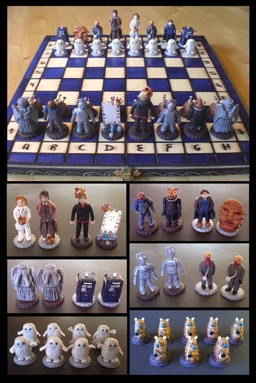 doctor who,chess,fanmade