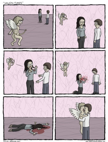 arrow cupid love Valentines day web comics - 8203434240