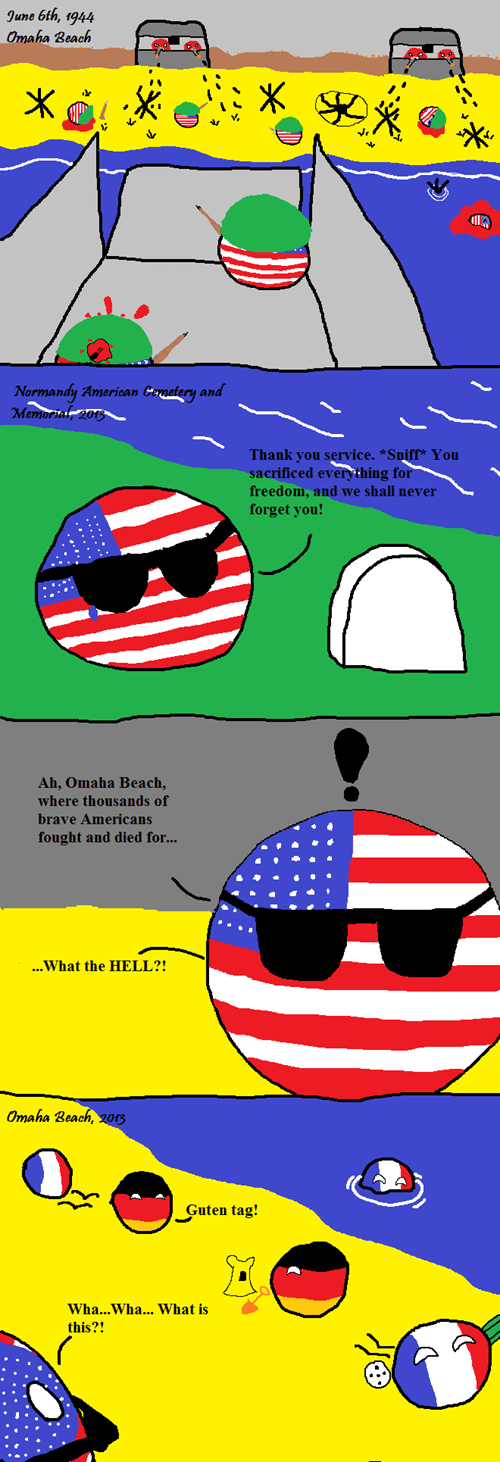 americaball,countryballs,Germany,memorial day,world war II,normandy