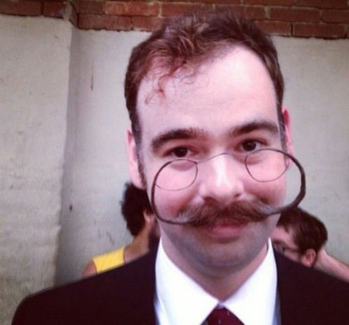 mustache facial hair poorly dressed glasses moustache - 8203558400
