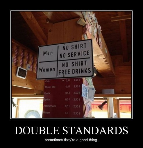 men funny no shirt double standards - 8203593472