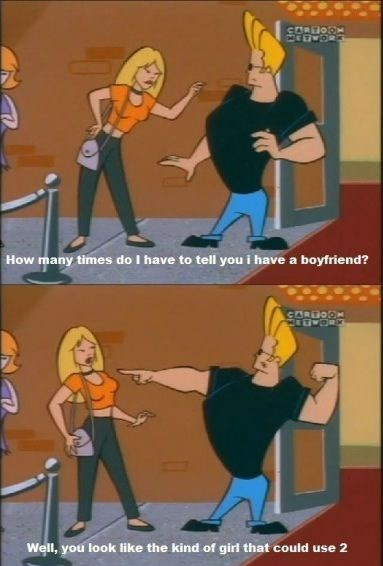 cartoons,funny,girlfriend,johnny bravo