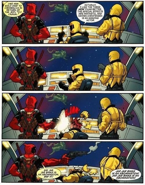 deadpool,star wars,Straight off the Page