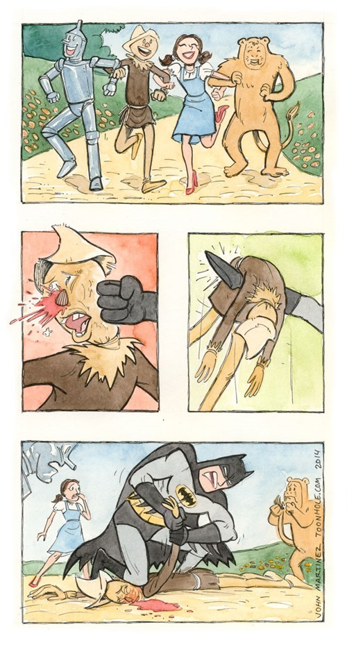 batman,wizard of oz,scarecrow,web comics