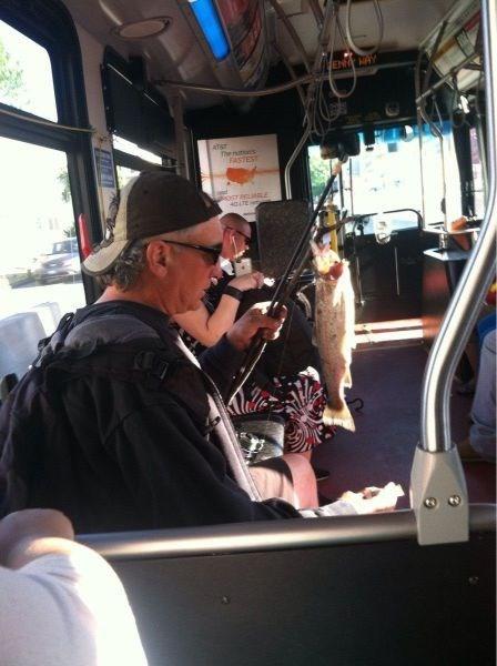 bus fish commute monday thru friday - 8203838976